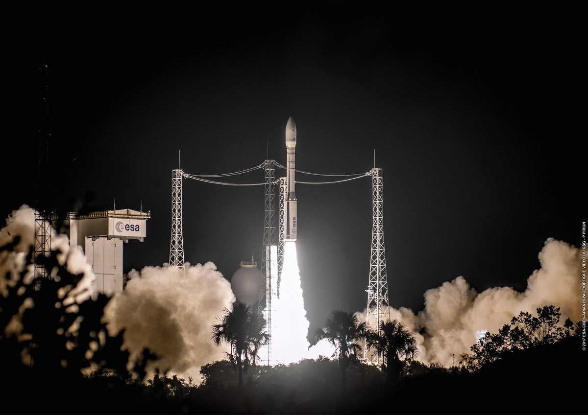 Arianespace Deploys two IAI Built Satellites into Space