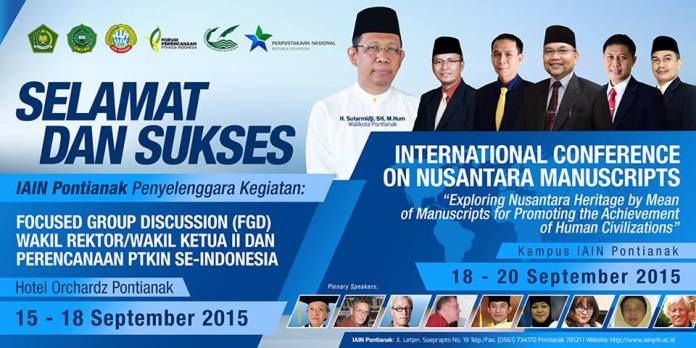 Foto Bilboard FGD dan Seminar International  Manuscripts