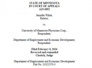 Unemployment Case White v. University of Minnesota
