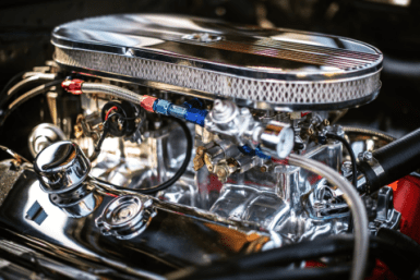 A powerful and shiny engine for a motor vehicle
