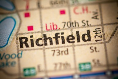 Location of Richfield MN
