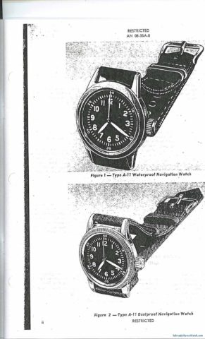 A-11 Navigation (Hack) Watch Manual
