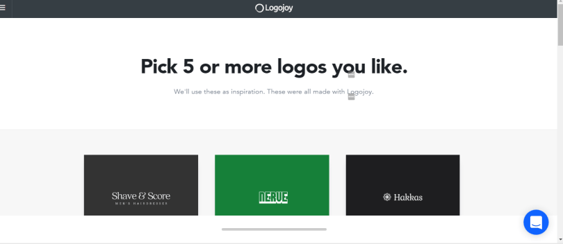 Logojoy Picking Logos