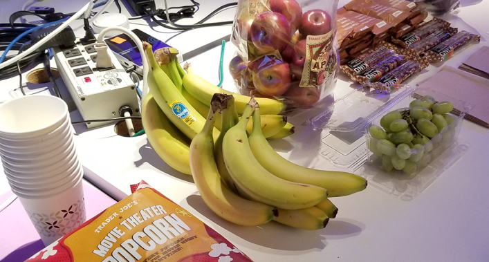 photograph of healthy snacks at the Hack and Snack event