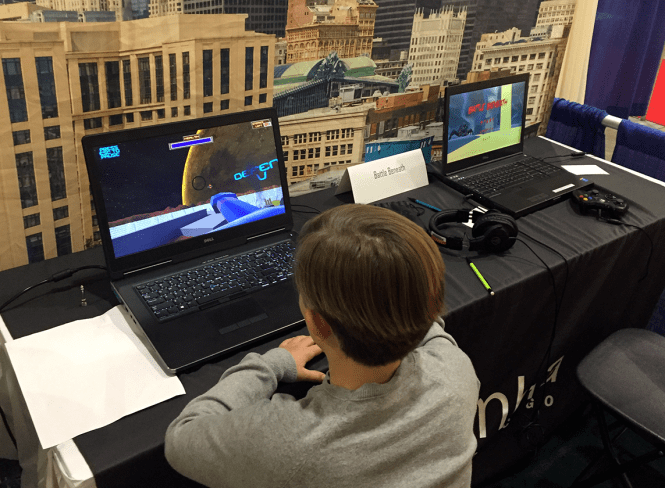 Student games at Chicago Toy and Game Fair (2018)
