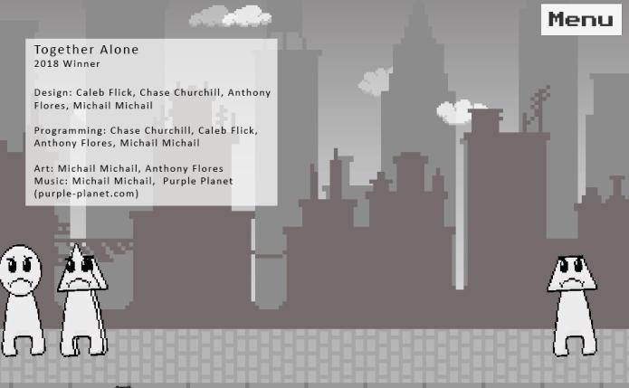 "2018 Manifest Game Jam Winner - student game ""Together Alone"" screenshot"