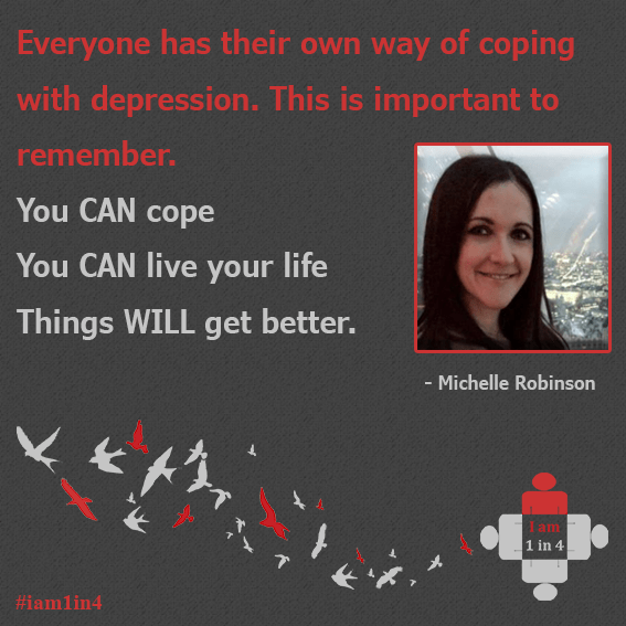My experience of Depression: Michelle Robinson