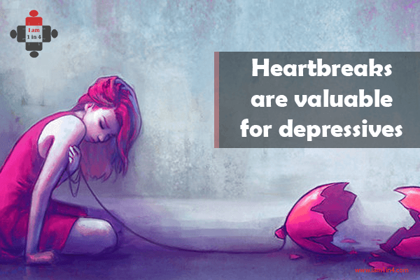 Heartbreaks can be valuable for depressives