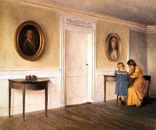 Two Of The Artist's Daughters At Liselund