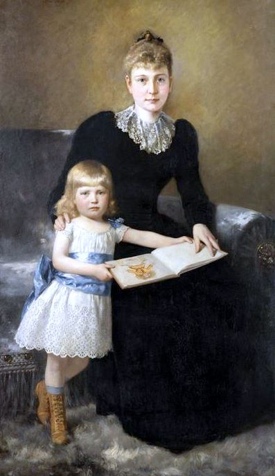 A Portrait Of A Mother And Daughter