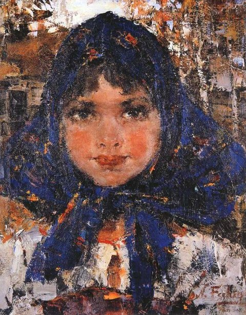 Nicolai Fechin 1881 1955 Russian I AM A CHILD