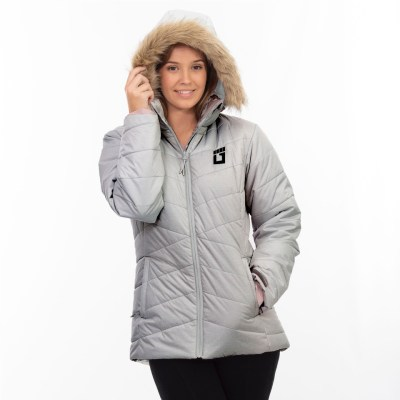 Ladies ULTRA Puffer Jacket – Light Grey