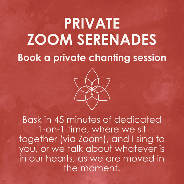 Private Zoom Serenades