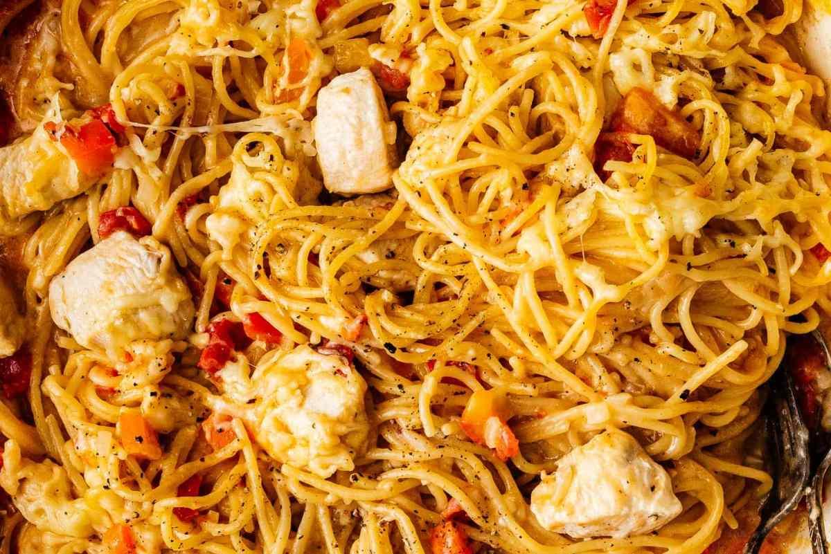 chicken spaghetti | www.iamafoodblog.com