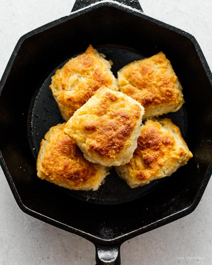 Small Batch Skillet Buttermilk Biscuits | www.iamafoodblog.com