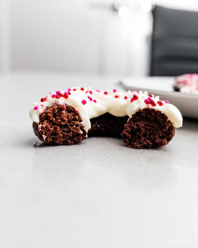 Vegan Baked Chocolate Cake Doughnuts | www.iamafoodblog.com