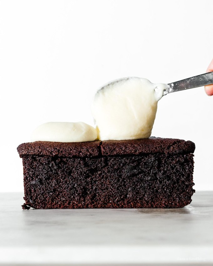 Small Batch Chocolate Guinness Cake Loaf | www.iamafoodblog.com