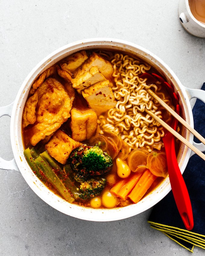 Spicy Korean Ramen Recipe with Tofu and Vegetables   www.iamafoodblog.com