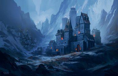 Painting Fantasy Castle by Andrea Rocha