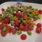 tomato and pea salad