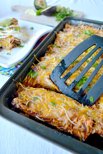 Vegetable Enchiladas with Easy Homemade Sauce