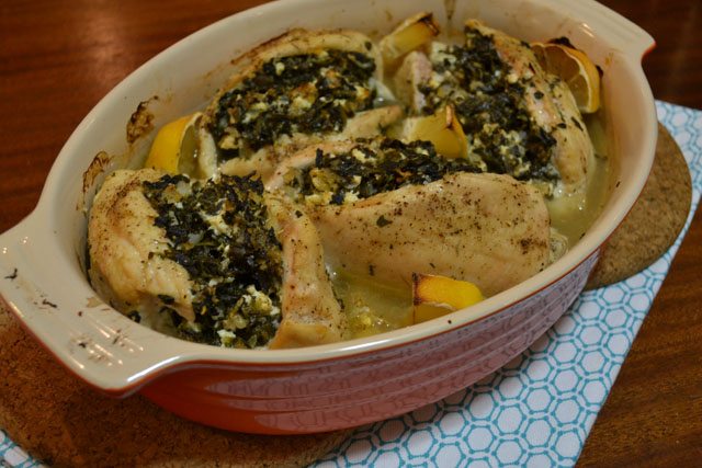Spanakopita Stuffed Chicken