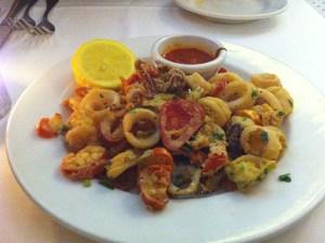 calamari at Papa Razzi