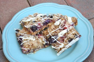 Fresh Berry White Chocolate Streusel Bars