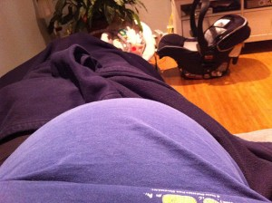 almost 37 week bump update pic