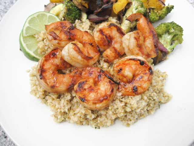 Citrus Apple Butter Glazed Shrimp-01