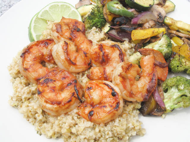 Citrus Apple Butter Glazed Shrimp-02