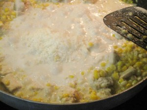 Fusilli with Fresh Corn and Chicken in a Garlic Cream Sauce-09