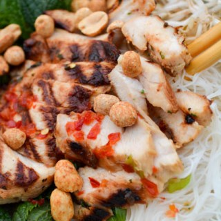 Vietnamese Grilled ChickenVermicelli Bowl