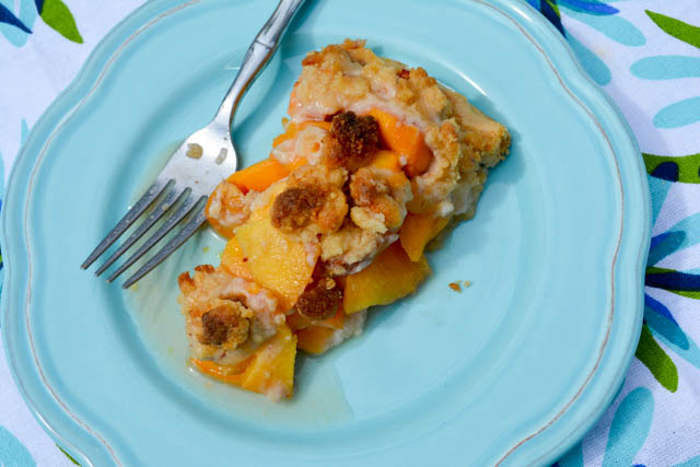 Streusel Topped Peach Pie-6