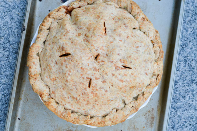 Deep Dish Apple Pie with a Cheddar Rosemary Crust-10
