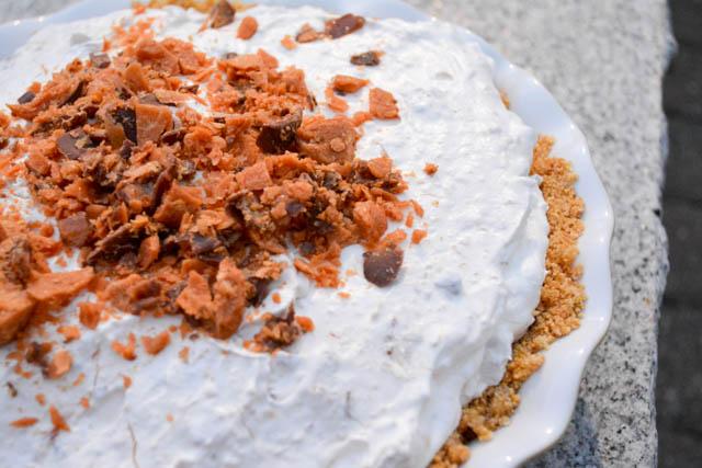 No Bake Butterfinger Pie-4
