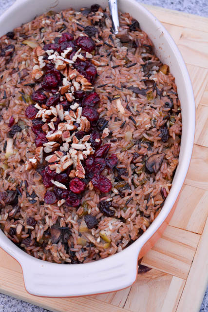Apple and Mushroom Wild Rice Stuffing-3