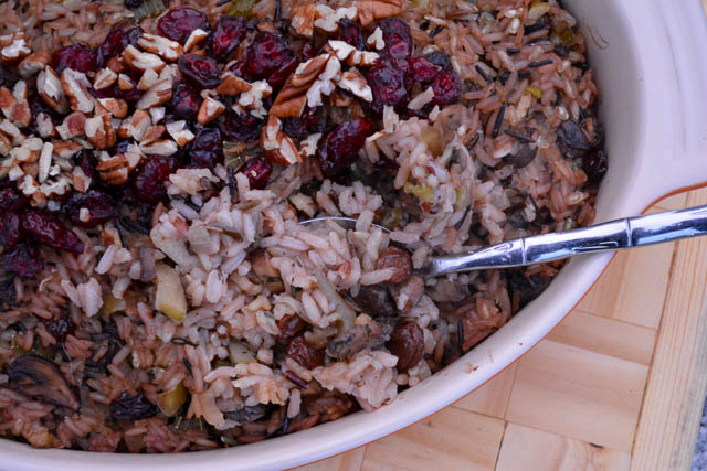 Apple and Mushroom Wild Rice Stuffing-4