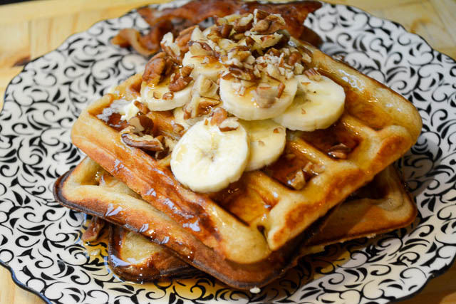 Brown Butter Banana Waffles-3