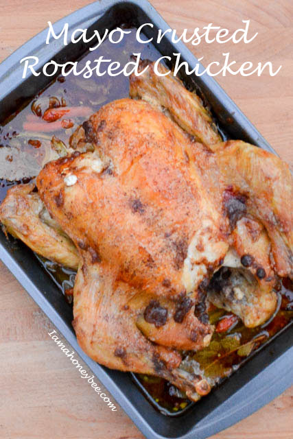 Mayo Crusted Roasted Chicken