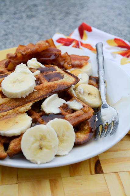 Banana Buttermilk Waffles-2