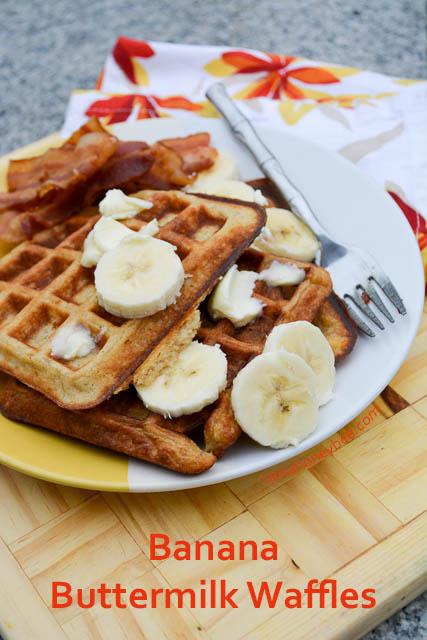 Banana Buttermilk Waffles