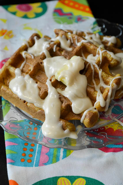 Whole Wheat Carrot Cake Waffles-5