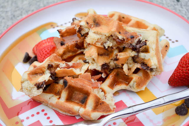 Bacon Chocolate Chip Waffles-4