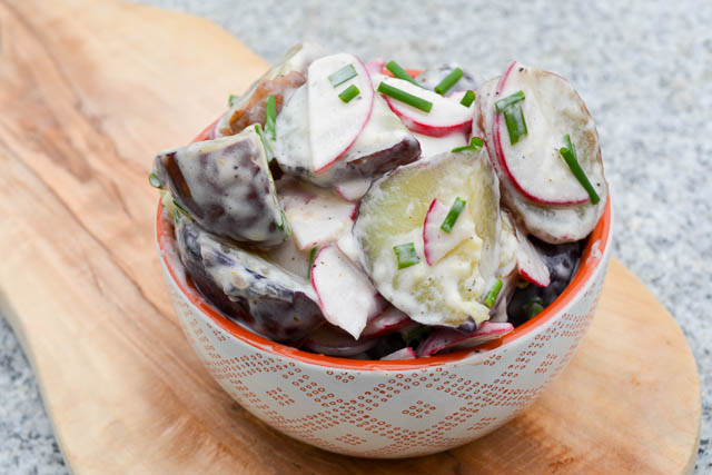 New Potato & Radish Salad w Truffle Oil Dressing-3