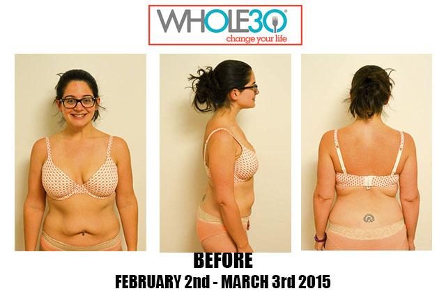 Nicole Whole30 Feb 2015 Before