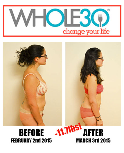 Nicole Whole30 Feb 2015 Side by Side
