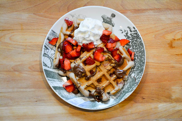 Strawberry Nutella Waffles-3