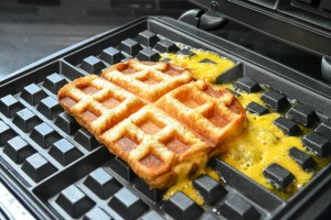 Waffle Iron Grilled Cheese-8
