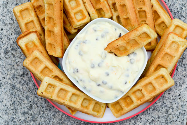 Waffle Sticks with a Cannoli Dip-4